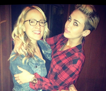 Mozella and Miley Cyrus