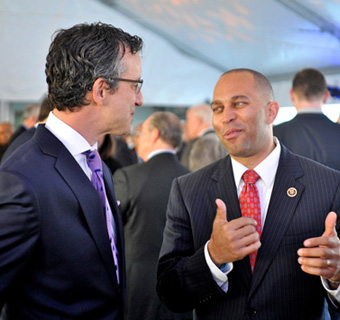 David Israelite and Congressman Hakeem Jeffries