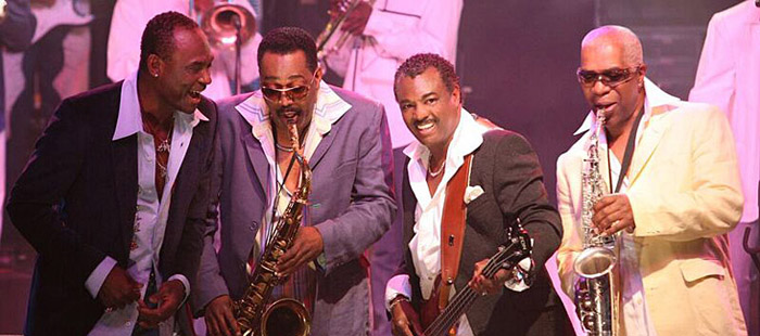 "Kool & The Gang: George Brown, Ronald Bell, Robert ""Kool"" Bell and Dennis Thomas."