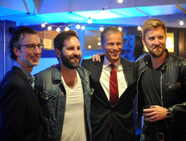 David Israelite, Josh Kelley, Senator John Thune of South Dakota, and Charles Kelley (of Lady Antebellum).