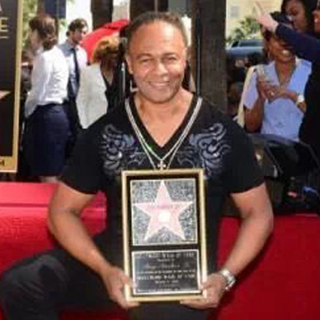 Ray Parker Jr., receiving his Star on the Hollywood Walk of Fame.