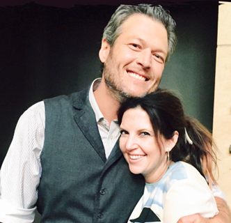 Blake Shelton and Aimee Mayo