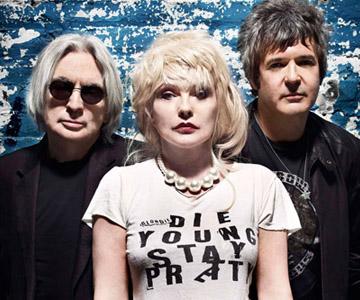 Chris Stein, Debbie Harry and Clem Burke of Blondie.