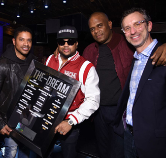 Ryan Press (of Warner/Chappell Music), hit songwriter The-Dream, Jon Platt (CEO of Warner/Chappell), and David Israelite.