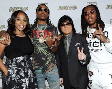 Nicole George (ASCAP), Quavo of Migos, John Titta and Takeoff of Migos.