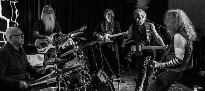 The band Immediate Family: Russ Kunkel, Leland Sklar, Steve Postel, Danny Kortchmar and Waddy Wachtel.