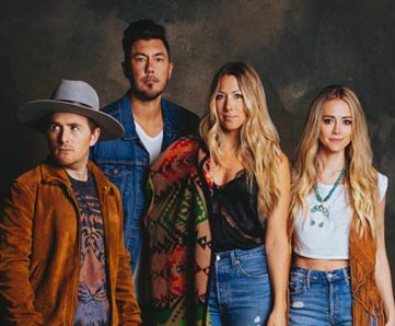 GONE WEST (pictured l-r): Jason Reeves, Justin Kawika Young, Colbie Caillat and Nelly Joy.