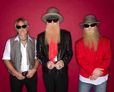 ZZ TOP (pictured l-r): Frank Beard, Billy Gibbons & Dusty Hill.