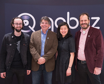 Qobuz USA team: Eric Benoit, David Solomon, Sujan Hong and Dan Mackta.