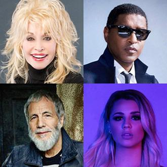 Dolly Parton, Babyface, Yusuf/Cat Stevens, Gabby Barrett