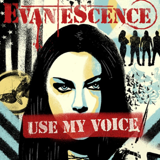 """The artwork for Evanescence's single, """"Use My Voice"""""""